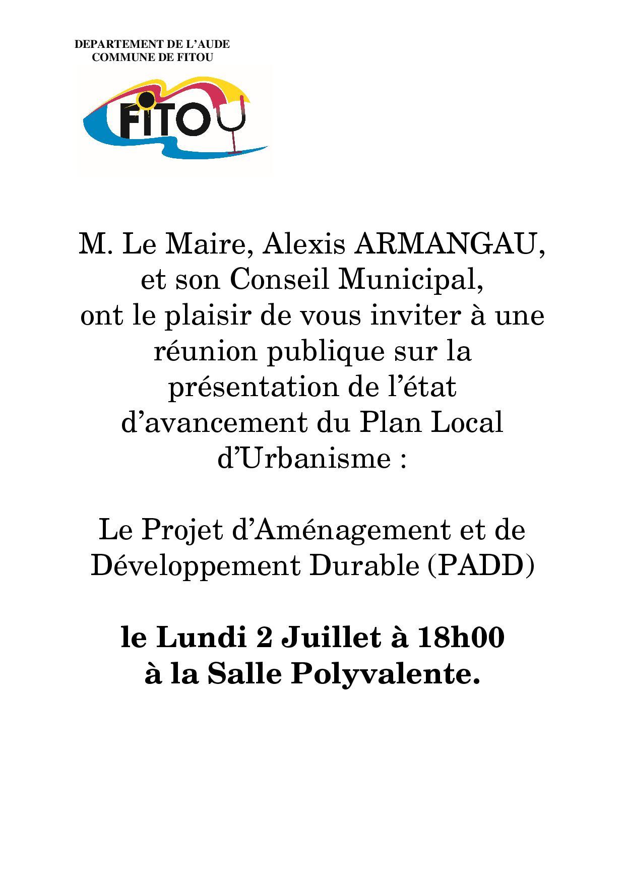 RÉUNION PUBLIQUE 02.07.18